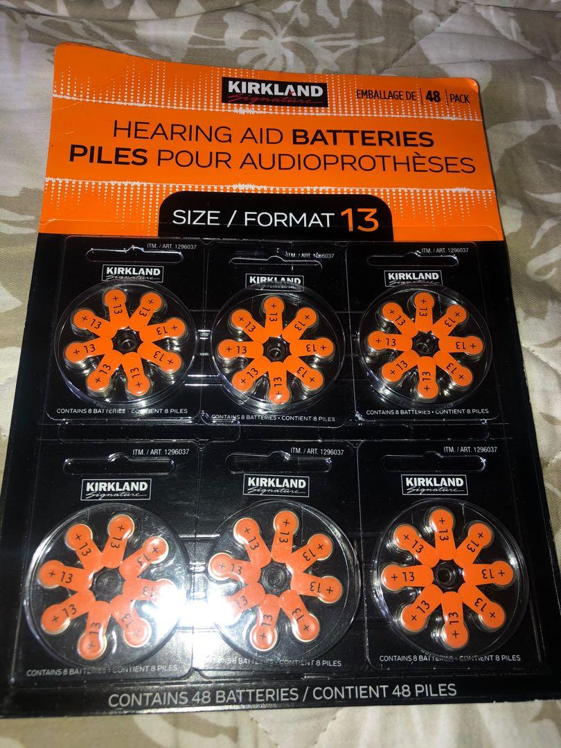 Brand new hearing aid batteries