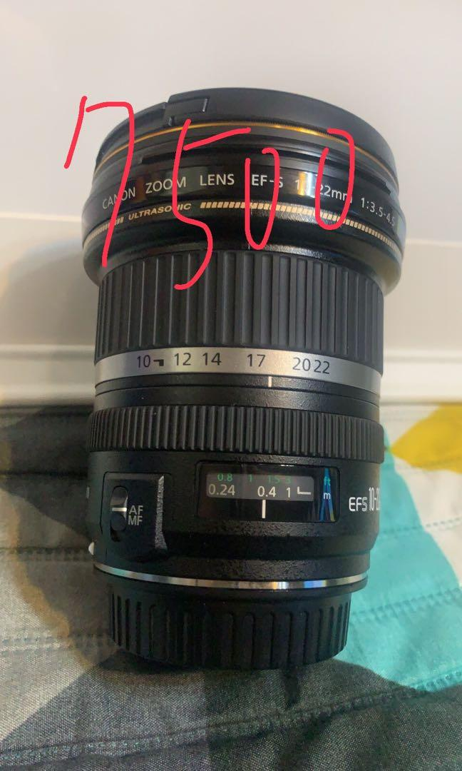 Canon Ef-s10-22mm $7500
