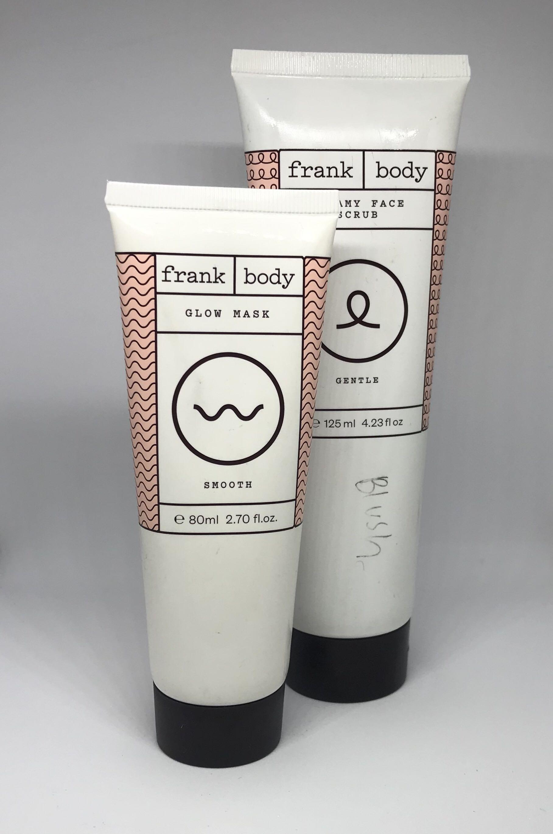 Frank Body mask and cleasner