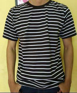 Kaos Stripes Hitam Putih