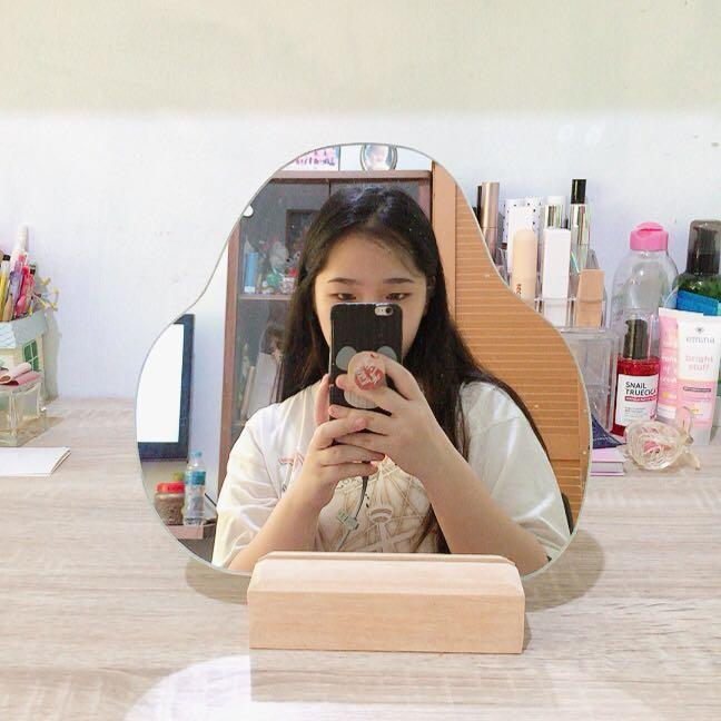 korean aesthetic irregular mirror 25cm