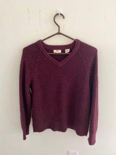 Levi's Maroon Sweater
