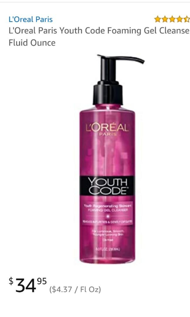 NEW L'oreal Youth Code foaming gel cleanser