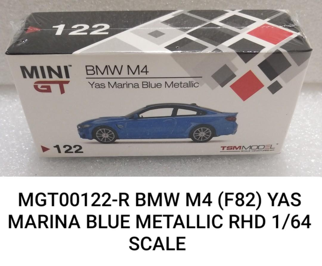 MINI GT 1:64 BMW M4 Yas Marina Blue Metallic RHD Diecast Model Car F82