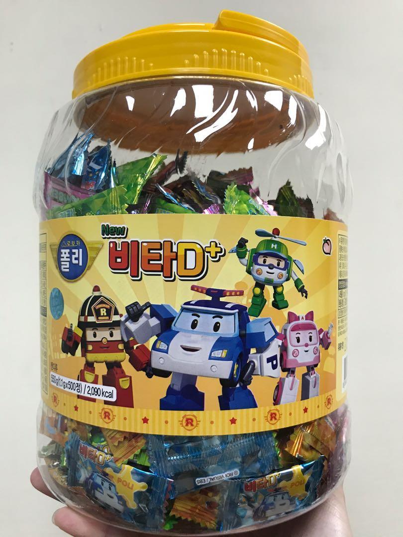 韓國波力POLI 水蜜桃維生素D+