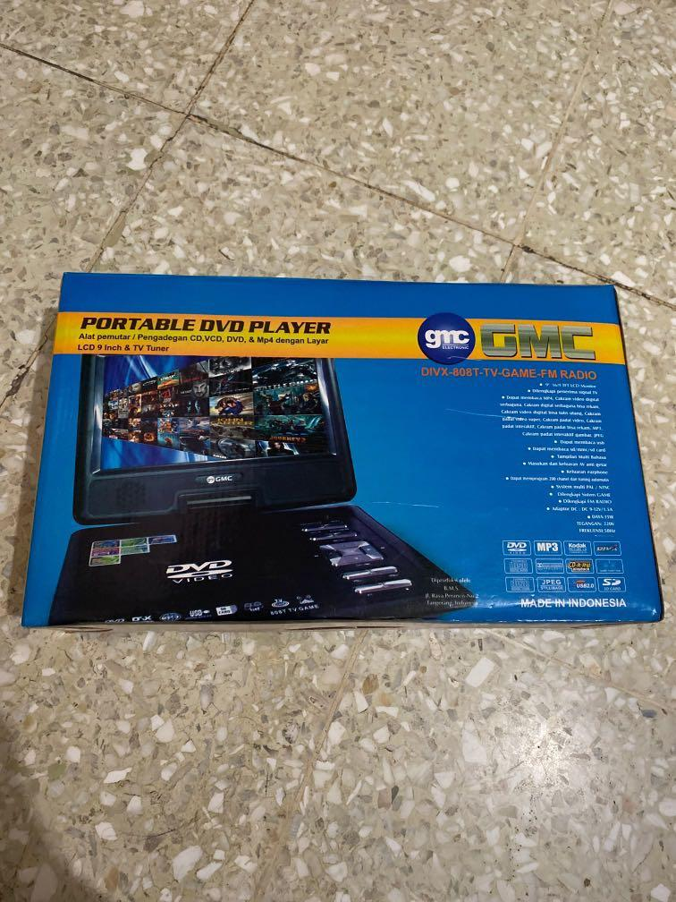 Portable DVD Player pemutar CD, VCD, MP4 layar 9 inch & TV Tuner