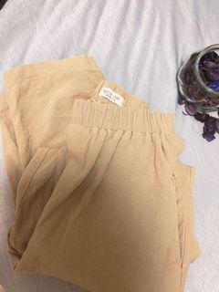 🤍✖️QueenShop質感卡其寬褲 前後還有可愛的口袋喲🍒