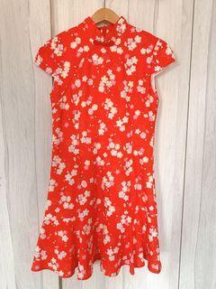 CNY Red Cheongsam Dress