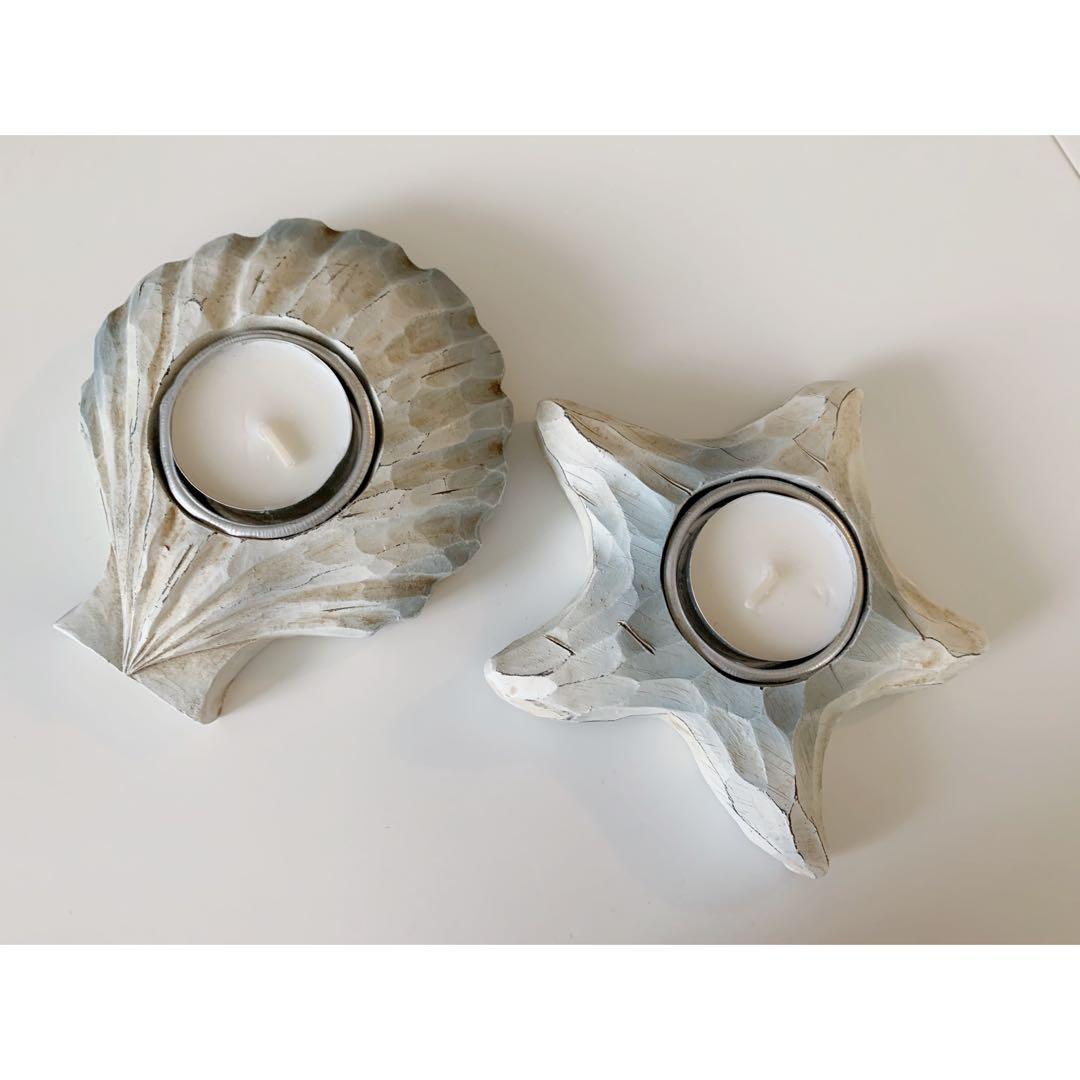 Shell Candle holders hone deco bundle
