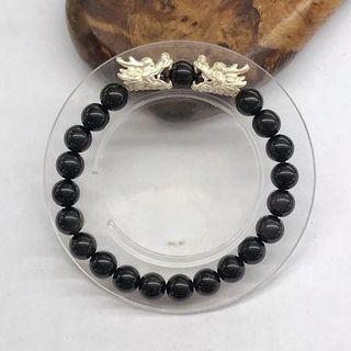 Silver Dragon Heat Bracelet 纯银龙头手链