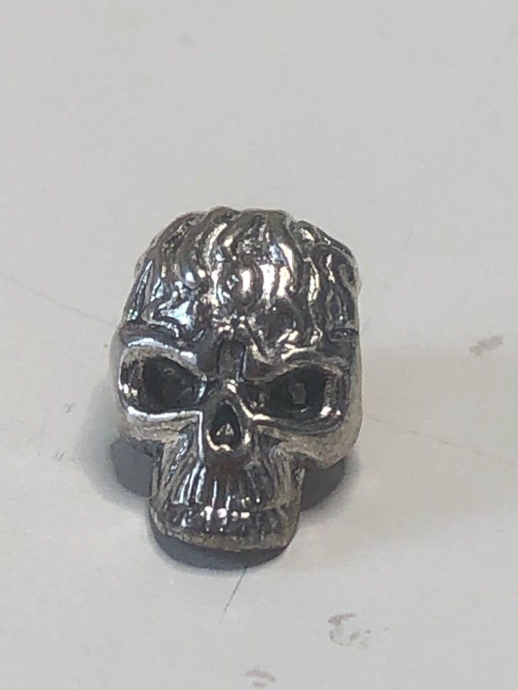 Skull Charm / Bandul aksesoris kalung silver metal