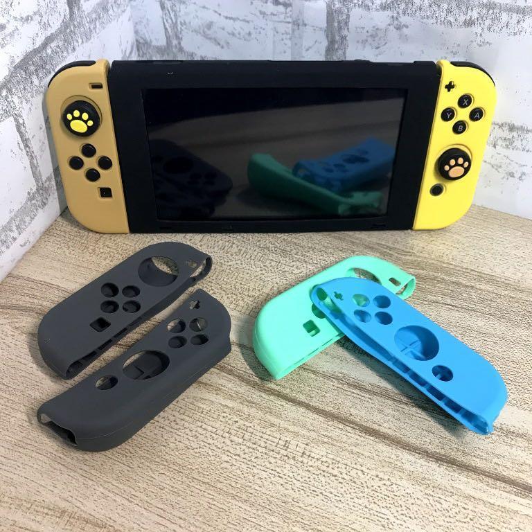 【滿額贈好禮】任天堂Switch JoyCon手把矽膠果凍套 圓弧增高 舒適手感 繽紛顏色搭配 防刮防摔防磨