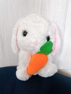 White Bunny with Carrot Soft Toy