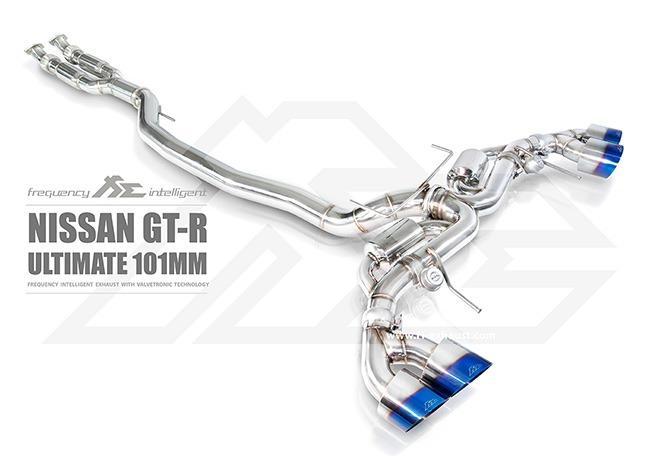 【YGAUTO】FI NISSAN R35 GTR ULTIMATE 101MM 中尾段閥門排氣管 全新升級 底盤