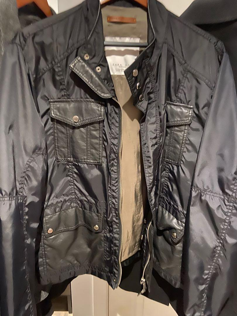 Zara Jacket with leather pockets