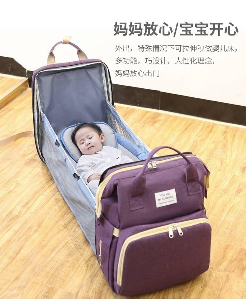 摺疊外出嬰兒床 母嬰休閒包