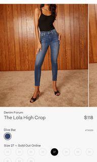 Aritzia Denim Forum The Lola High Crop