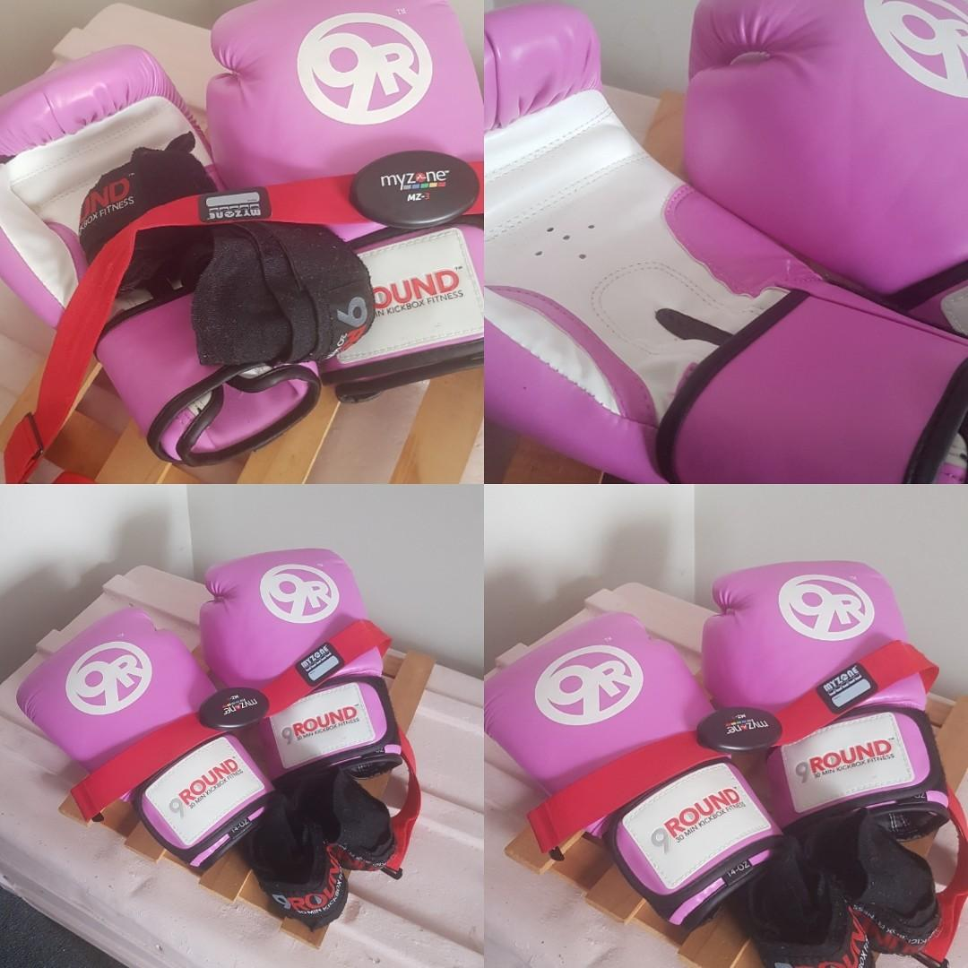 Boxing gear. Add pink shaker for $3.
