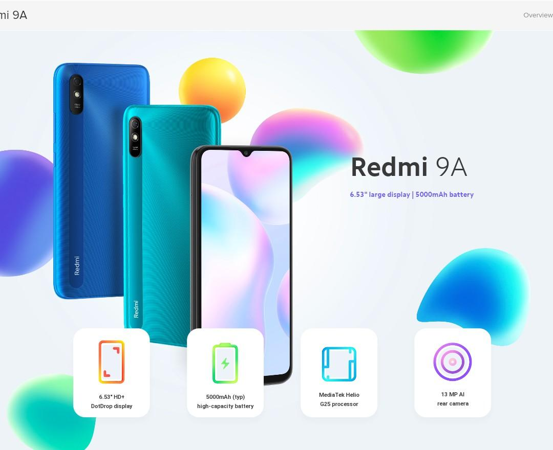 Brand New Golden85 Xiaomi Redmi 9A 6.53in 4G network global version one  year warranty, 電子產品, 手提電話- Carousell