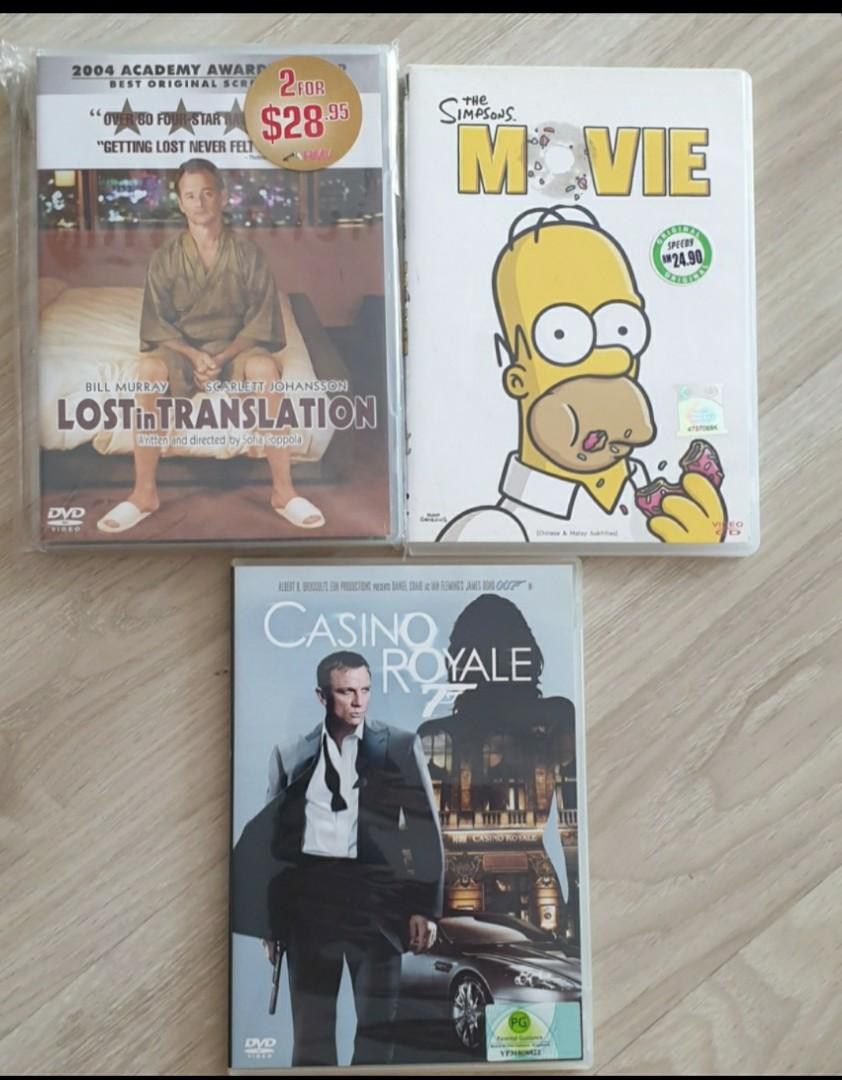 Casino Royale Lost In Translation The Simpsons Movie Tvb Monkey King Quest For The Sutra Dora Handy Manny Backyardigans Magic School Bus Music Media Cds Dvds Other Media On