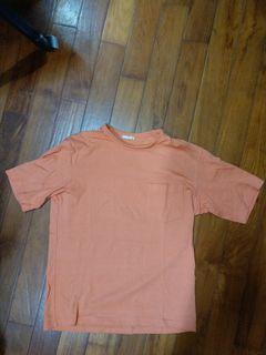 GU橘色厚磅口袋短踢