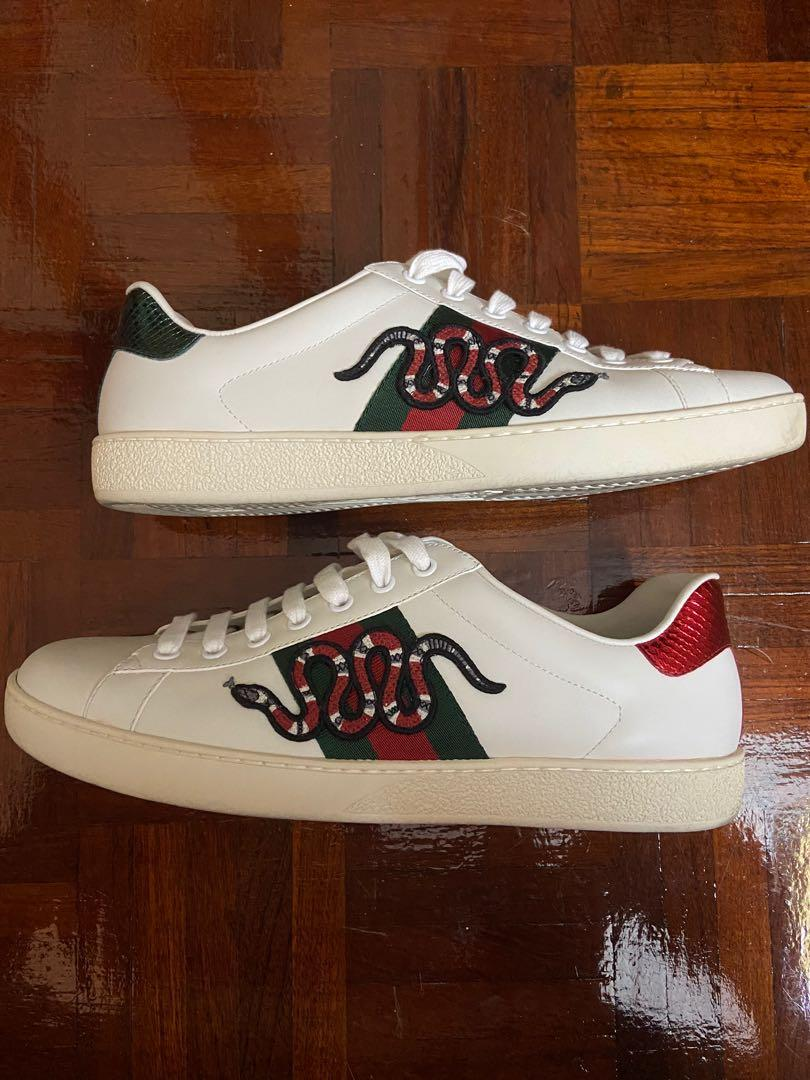 Accepted housewife drink  Gucci Ace Snake, Men's Fashion, Footwear, Sneakers on Carousell
