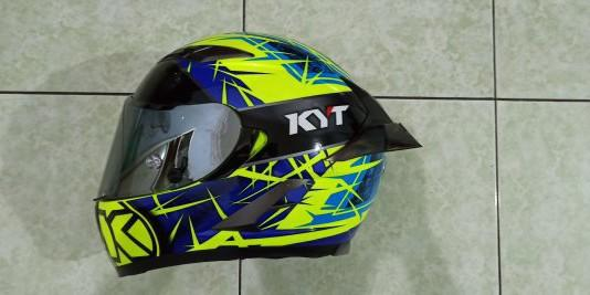 Helm KYT Falcon 2 Spike Yellow Fluo