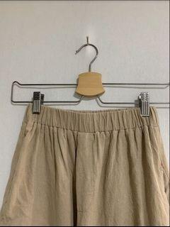 🤍✖️QueenShop奶茶卡其寬褲 前後可愛口袋🍒