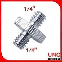 """Screw adapter 1/4"""" Male to 1/4"""" Male Threaded"""