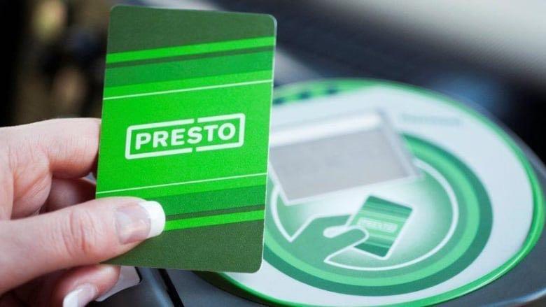Student presto card