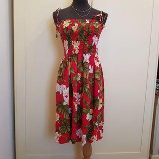 夏威夷帶回🇺🇸VODA風格細肩帶芙桑花海灘裙 Zarola ASOS