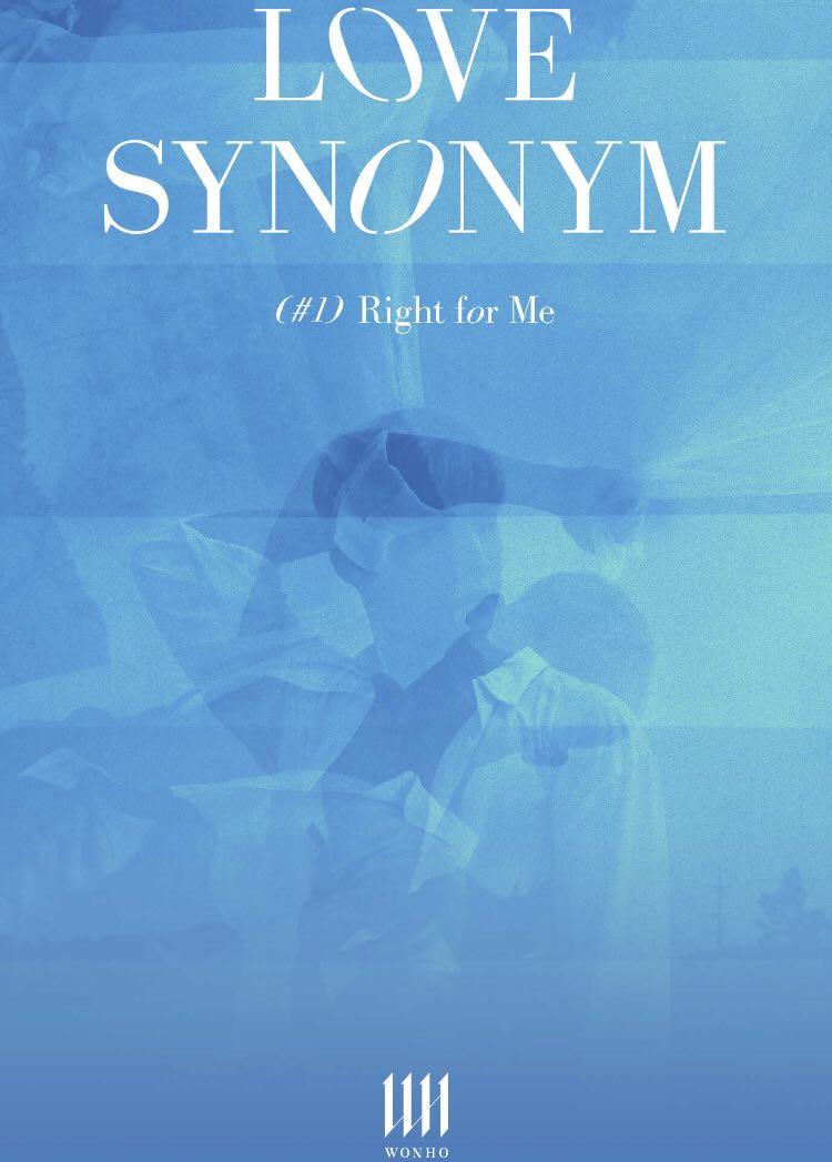 WONHO 1st Mini Album Part.1 Love Synonym - Right for me, K ...