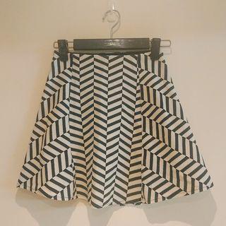 Zara 幾何風格傘裙 #WATER
