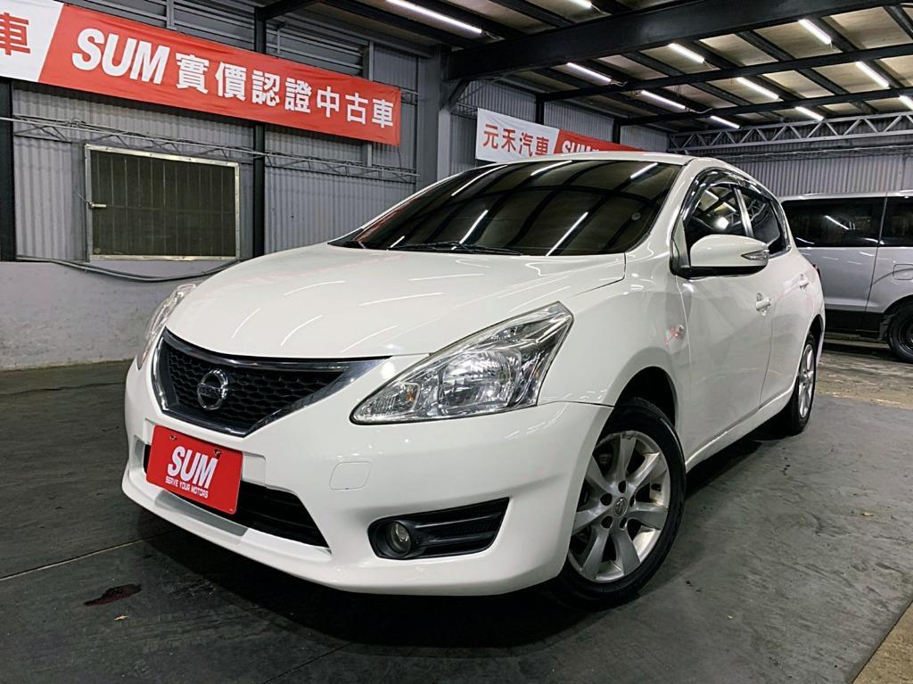 正2013年 最新款 Nissan BIG TIIDA 5D 1.6 原廠鑽石白