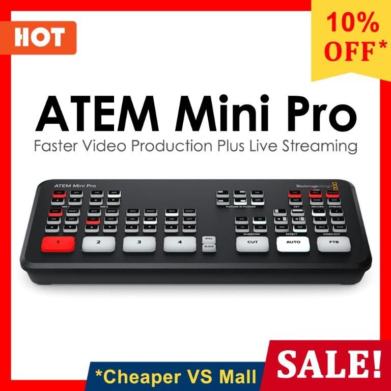 Atem Mini Pro Blackmagicdesign Live Game Streaming Vlogging Broadcasting Hdmi Video Switcher Electronics Computer Parts Accessories On Carousell