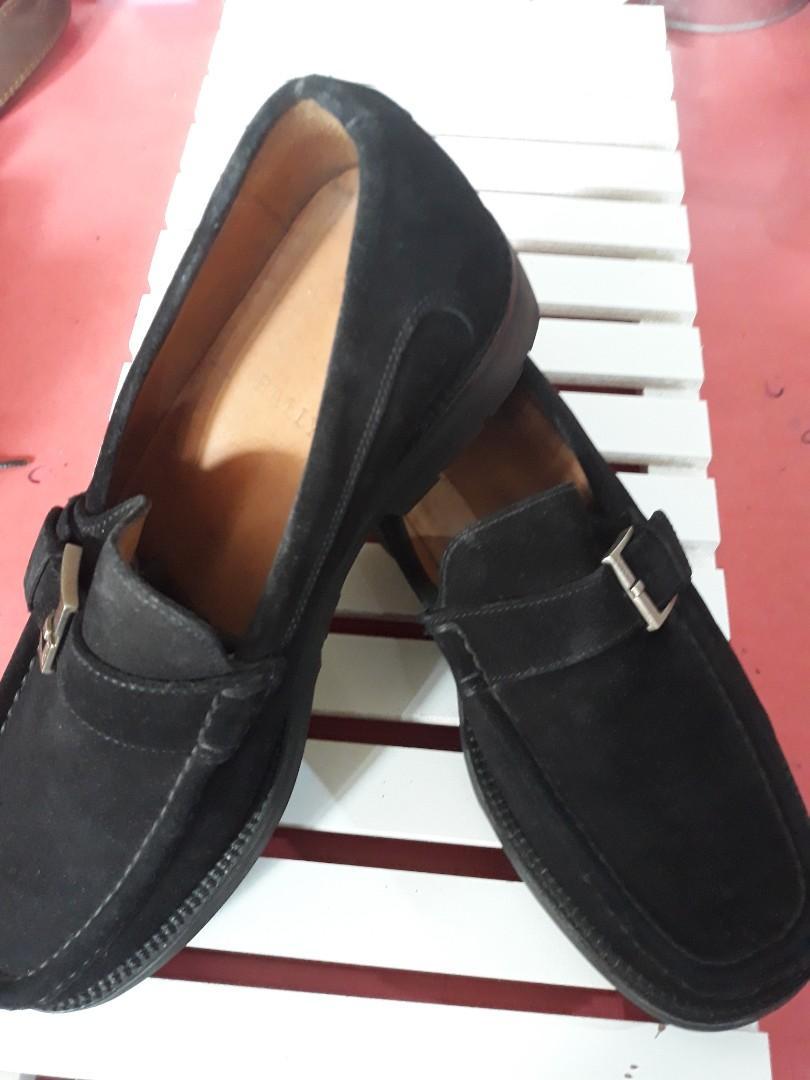 Bally Black Suede Mens Shoes, Men's
