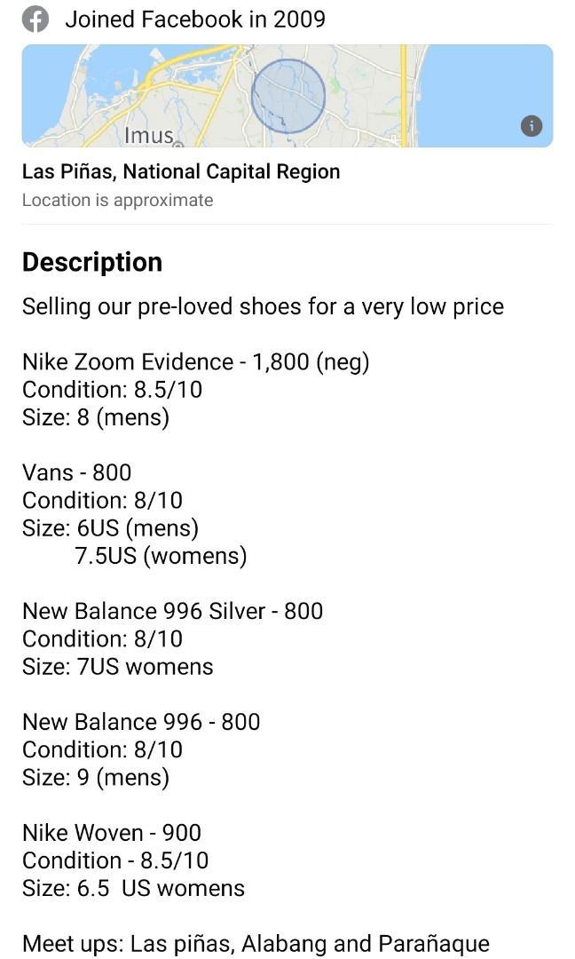 nike to vans shoe size