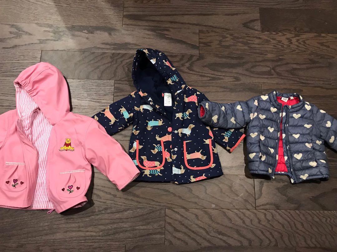 EUC toddler girls coats