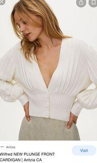 ISO Aritzia Wilfred New Front Plunge cardigan