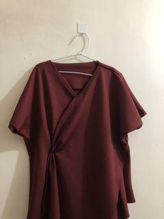 Maroon Blouse / Blus Merah Marun / Atasan