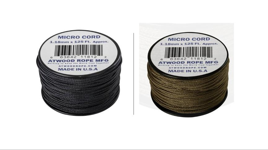 Atwood Mobile Products Micro Sport Cord 1.18mm X 125 Ft Small Spool Lightweight Braided Cord Olive Drab Green
