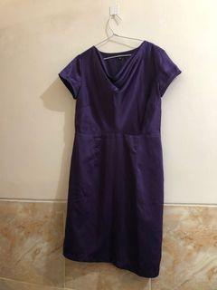 Mididress Eprise / Purple Dress Pesta Ungu