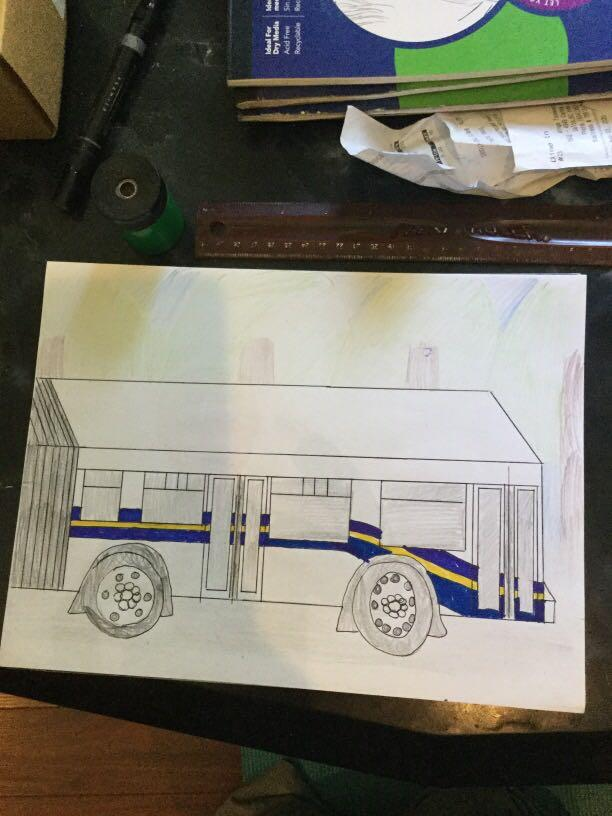 New Flyer D60LF Bus drawing