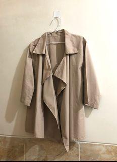 Outer Cream / Beige Cardigan Coat