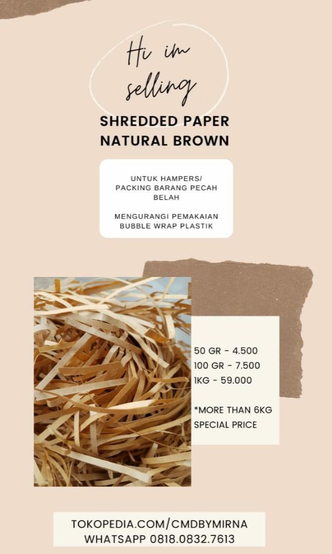 SALE TERMURAH shredded paper potongan kertas untuk hampers atau barang pecah belah per 1kg