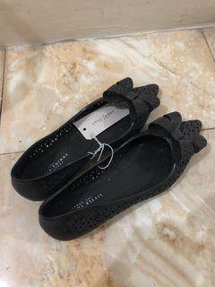 Little Things She Needs Jelly Flat Shoes Black Sepatu Hitam