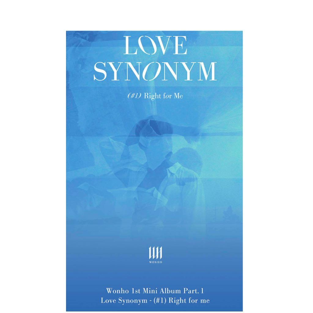 Wonho Love Synonym 1 Right For Me Entertainment K Wave On Carousell