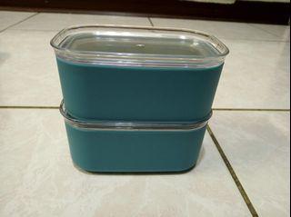 全新 好事成雙 水果盒 保鮮盒 2個合售 280ml