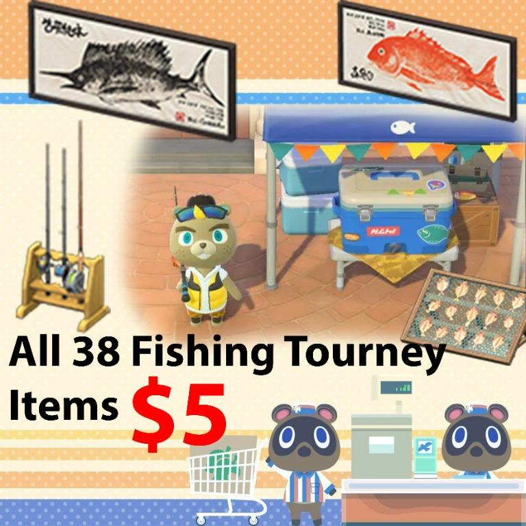All 38 fishing tourney items in animal crossing