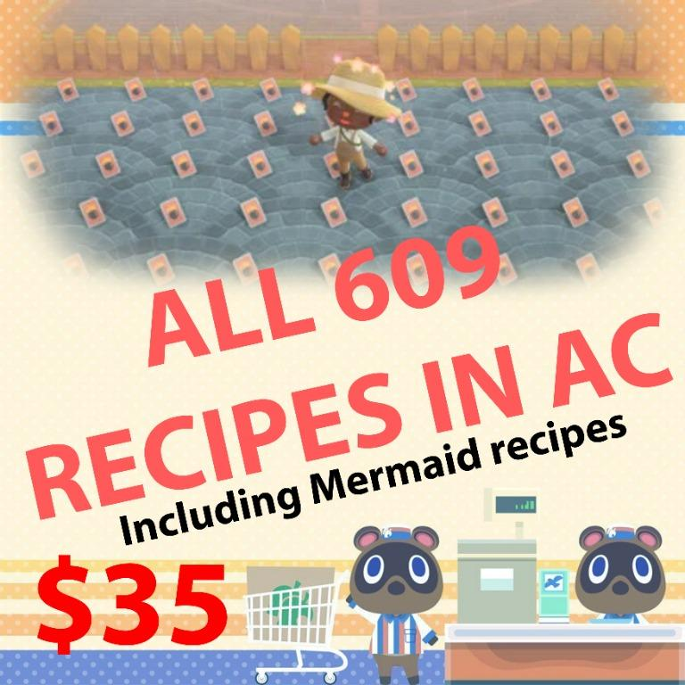 All *610 recipes in animal crossing